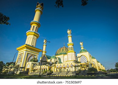 The Mataram, West Nusa Tenggara Great Mosque, an Islamic Center building in Mataram, Indonesia