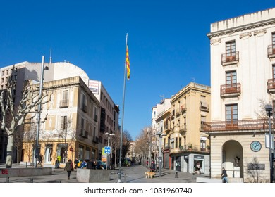 MATARO,SPAIN-JANUARY 29,2017: Street view, historic center in Mataro,Spain.