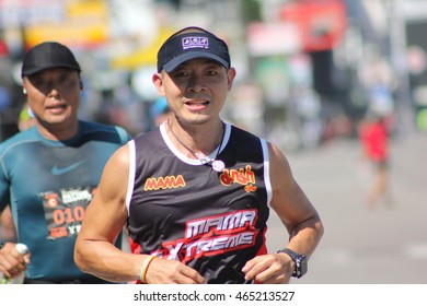 Match King's Cup Pattaya Marathon 2016 in Pattaya, Thailand July 17, 2016. At Pattaya Beach Road in front of Central Festival Pattaya Beach, Chonburi.
