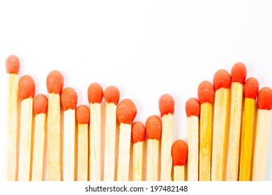 Match and matchbox isolated with white background