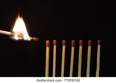 the match is on fire