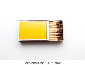 Match on white background. Selective focus.