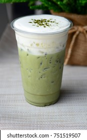 Matcha iced topping with cream cheese