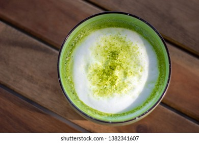 matcha latte hot green tea japanese