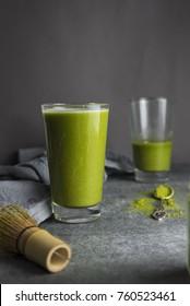 Matcha Latte (Matcha powder and vegan Milk, green power,
