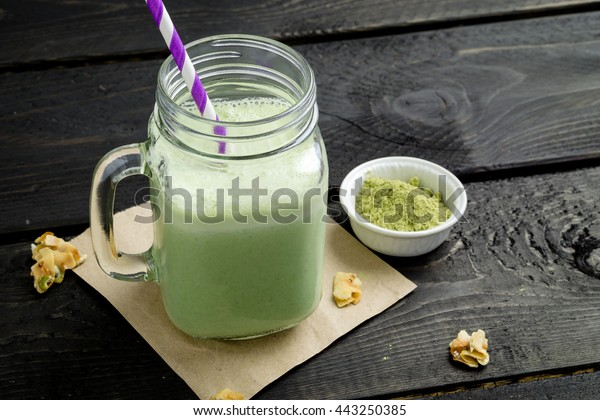 Matcha Smoothie. This smoothie is made with powdered green tea (also known as matcha). This refreshing & healthy drink is packed with antioxidants. It's the perfect drink for those hot summer days.