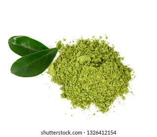 matcha tea isolated on white