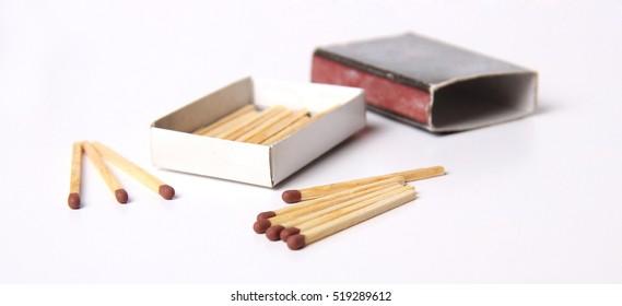 Matchbox and matchstick