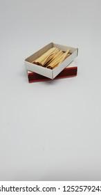 matchbox studio closeup isolated on white background