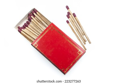 Matches in red box on  white background.