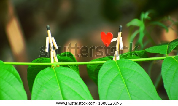 Matchstick Art Love Couple Wallpaper Best Stock Photo Edit Now