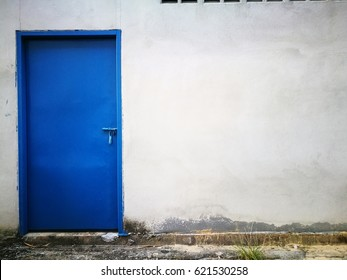 Matel door with wall art and  wall colorful