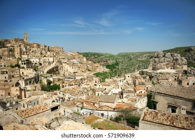 Matera, European capital of culture 2019, panoramic view, Basilicata, Italy
