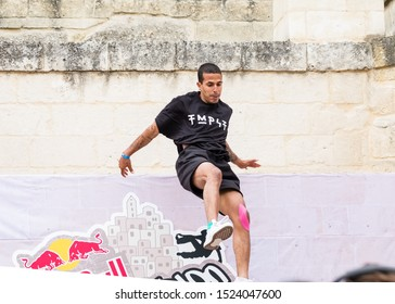 Matera, Italy - October 5, 2019: Didi Alaoui in action during the final of Red Bull's Art of Motion.