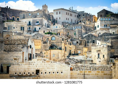 Matera old town, UNESCO World Heritage Site, European Capital of Culture 2019. Basilicata, Italy