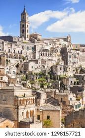 Matera town, Basilicata, Italy. UNESCO World Heritage Site. European capital of culture 2019