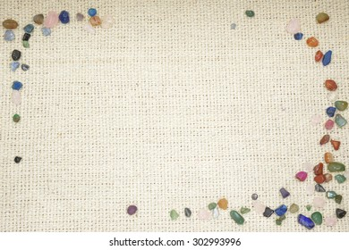The material for backgrounds/The material of the texture by which a colorful small stone was arranged