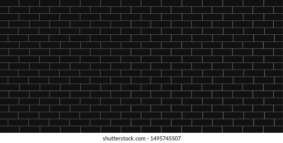 material black surface tile wall ceramic or brick pattern subway texture for background