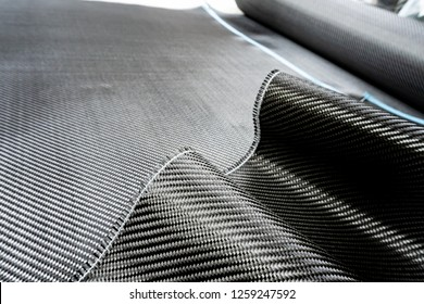 Material of composite product dark carbon fiber. sport material use.