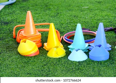 Material for  trainning class of football academy ,colorful plastic marking cone ,agility Ring Ladder and Hurdles for field training and speed coordination.