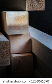 Materials for the construction of the house - construction timber dried pine posts