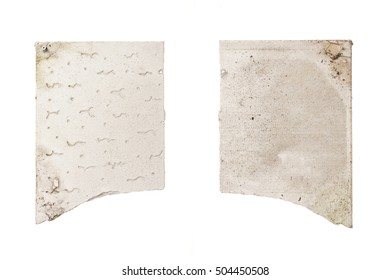 A materiel of vintage(old) broken ceiling gypsum board(plaster board)