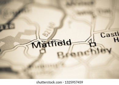 Matfield. United Kingdom on a geography map