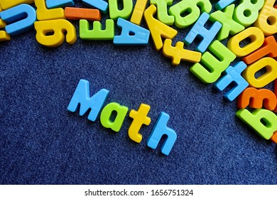Math with colorful letters. Education concept.