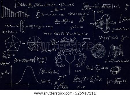 Math Physics Formulas Symbol On Black Stock Photo Edit Now