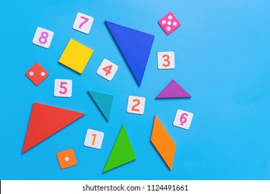 Math toy with number and math shapes for kid education