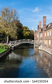 Mathematical Bridge, Cambridge, England. Officially known as Wooden Bridge it was designed by William Etheridge in 1749; connects two parts of Queens' College, part of the University of Cambridge.