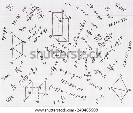 mathematical calculation on school list cell stock photo edit now Arithmetic and Geometric Sequences mathematical calculation on the school list in the cell mathematics