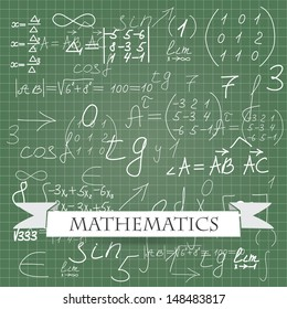 mathematics.  background (vector version also available in my gallery)