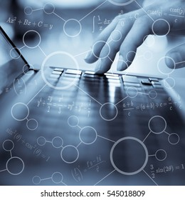 mathematics formulas, high education concept