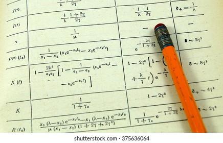Mathematics and physics equations