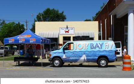 "MATHEWS, VA- JUNE 01:101.7 Bay FM Radio in the Annual: Vintage TV's ""Chasing Pavement Vintage Automotive Festival"" in Mathews, Virginia on June 01, 2013"
