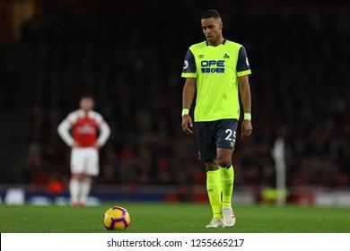 Mathias Zanka Jorgensen of Huddersfield Town - Arsenal v Huddersfield Town, Premier League, Emirates Stadium, London (Holloway) - 8th December 2018