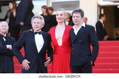 Mathieu Amalric, Emmanuelle Seigner and Roman Polanski at the 66th Cannes Film Festival - La Venus a la fourrure - premiere Cannes, France 25/05/2013