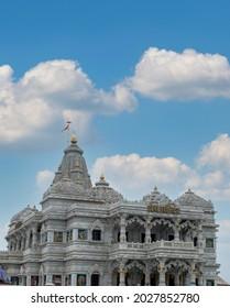 mathura vrindavan temple, prem mandir beautiful architecture. - Shutterstock ID 2027852780