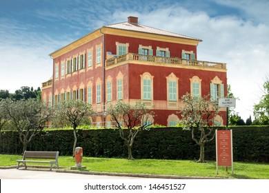 Matisse Museum - former Genoese villa of 17th century. Nice, France.