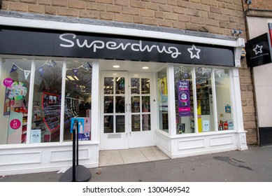 MATLOCK, UNITED KINGDOM - JANUARY 31, 2019: Superdrug health and beauty shop front
