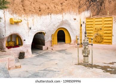 MATMATA, TUNISIA - APRIL 14: Old Star Wars set left over in Matmata, Tunisia on April 14, 2018