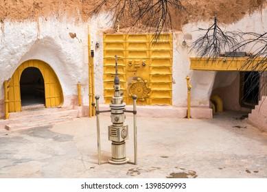 MATMATA, TUNISIA - APRIL 14: Props from Star Wars in Matmata, Tunisia on April 14, 2018