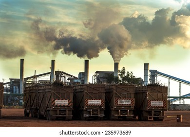 Mato Grosso, Brazil, April 10, 2008. Ethanol Manufacturing Plant in Brazil