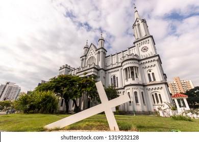 The Matriz Church Igreja do Santissimo Sacramento in Itajai, Santa Catarina, Brazil