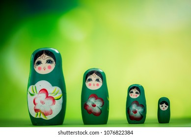 A matryoshka doll, also known as a Russian nesting doll, Stacking dolls, or Russian doll, is a set of wooden dolls of decreasing size placed one inside another.