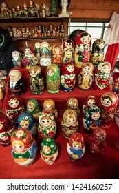 Matryoshkas and toys in Sapporo Market