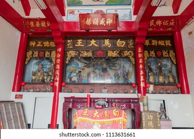 Matsu JUN 2: Interior of a Buddhist Temple on JUN 2, 2018 at Matsu, Taiwan