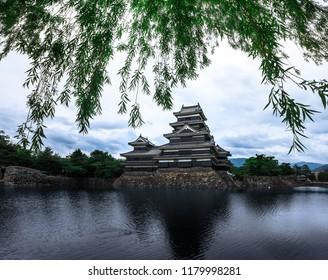 Matsumoto Castle Beautiful medieval of samurai age in the eastern Honshu, Nagano, Japan.