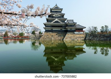 Matsumoto Castle with and beautiful sakura cherry blossom festival, One of Japan's premier historic castles.